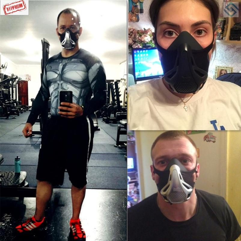 阻氧面罩健身訓練阻氧口罩阻氧面罩跑步運動面罩阻氧面具類比1現貨免運dd