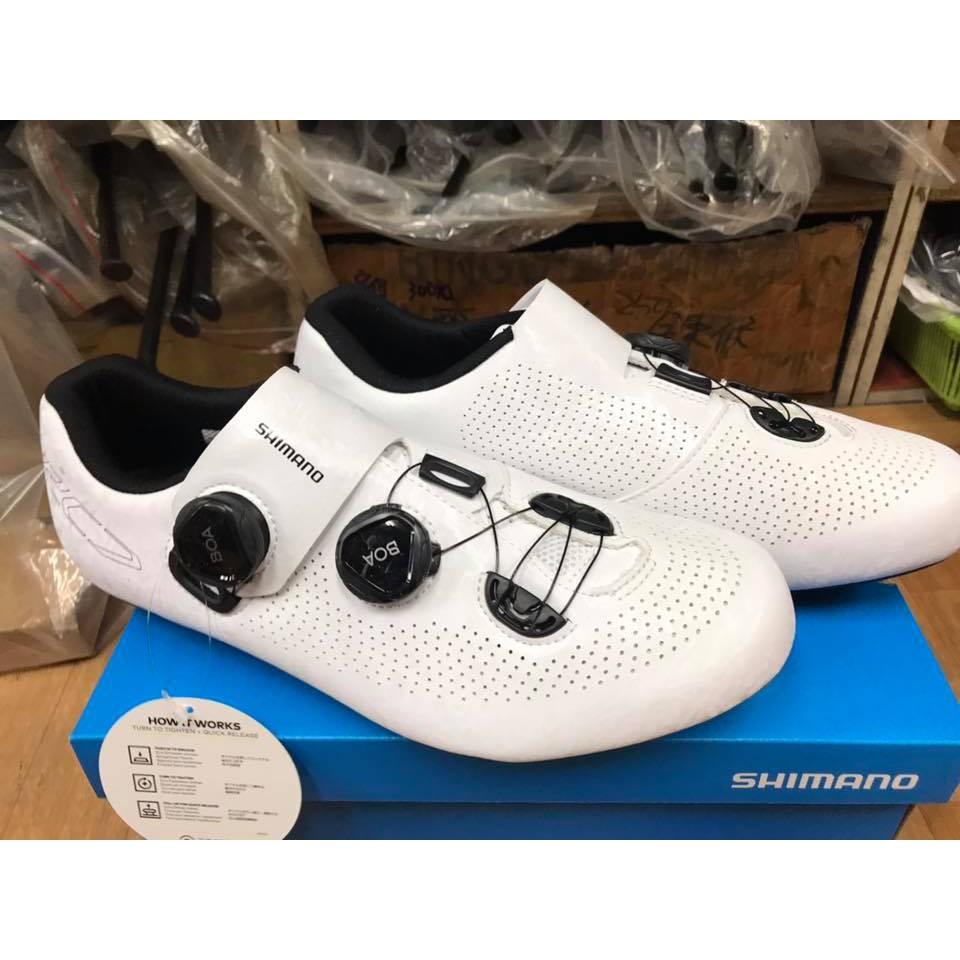 佶昇動輪車-Shimano RC7 SH-RC701 雙旋鈕消光白全新自行車卡鞋