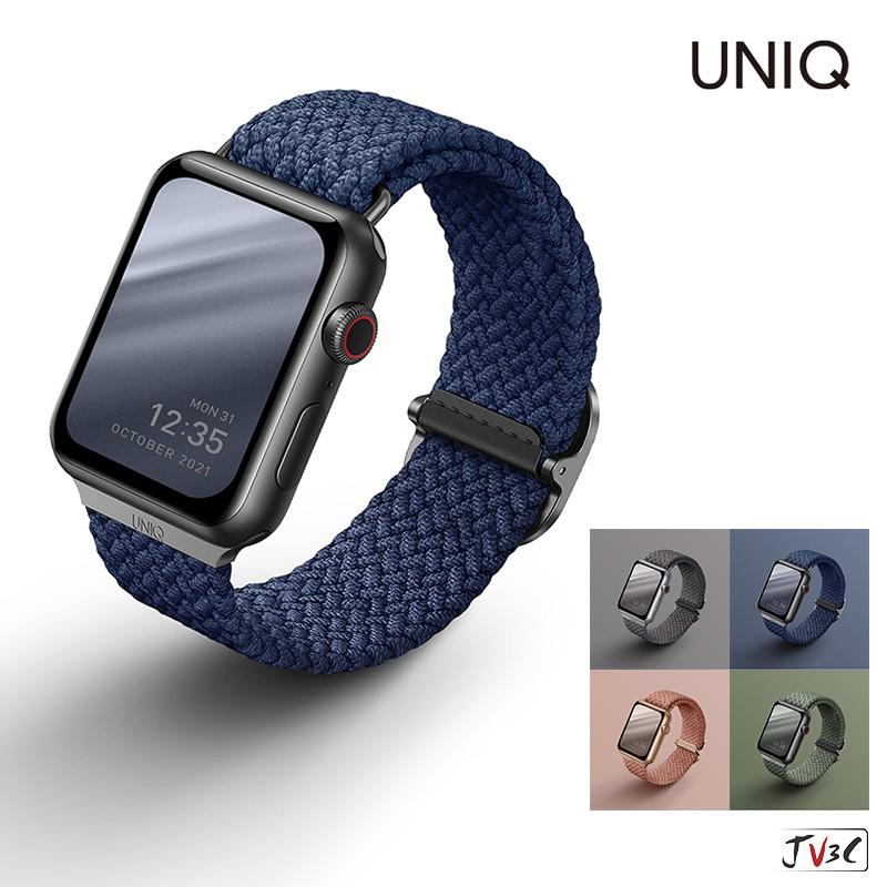 UNIQ Aspen防潑水高彈力編織單圈錶帶 適用 Apple Watch錶帶 SE 6 5 4 3 44mm 40mm