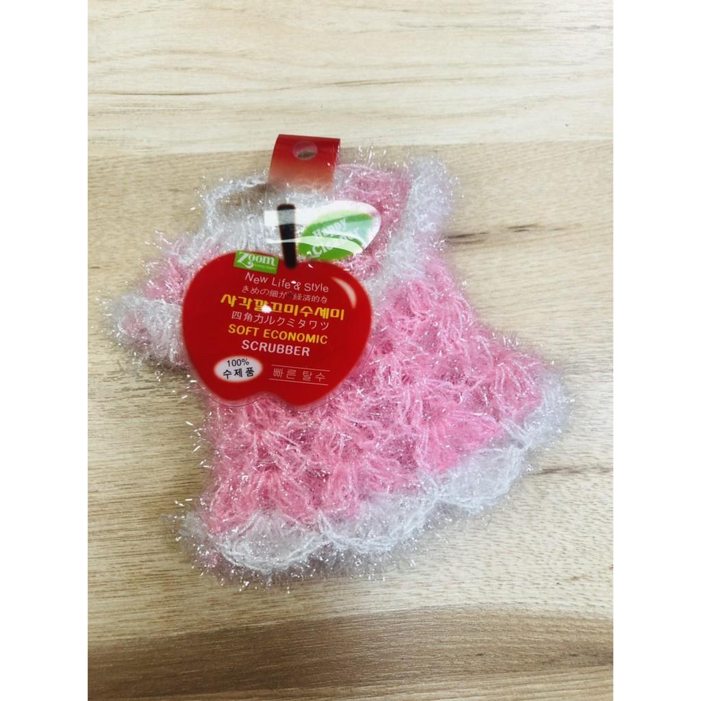 韓國菜瓜布 草莓 韓服 花造型 菜瓜布 洗碗布 菜瓜布 絲光纖維菜瓜布 洗碗