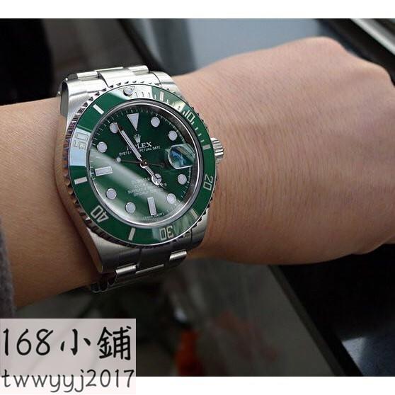 香港代購!!ROLEX勞力士綠水鬼腕錶勞力士黑水鬼手錶勞力士金錶勞力士金鬼藍鬼潛航者系列#9057