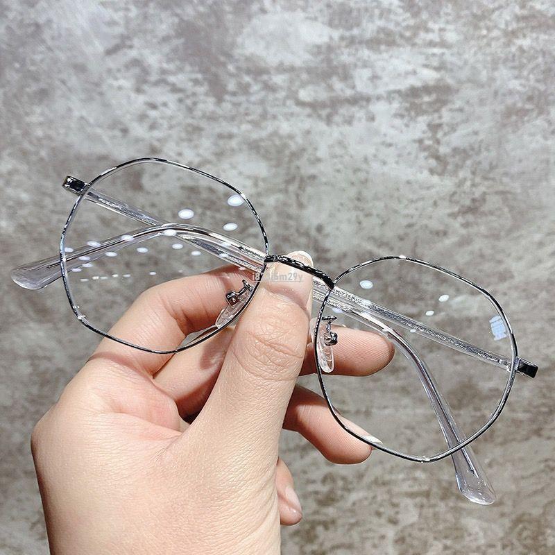 【阿姨家】超輕近視眼鏡女韓版潮可配有度數學生多邊形眼鏡框架女大臉顯瘦男