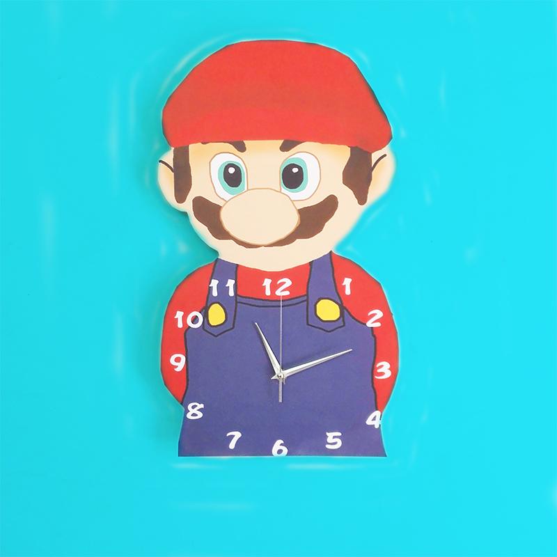 男孩童年趣超級馬里奧鐘表創意掛鐘時尚掛表臥室靜音客廳時鐘