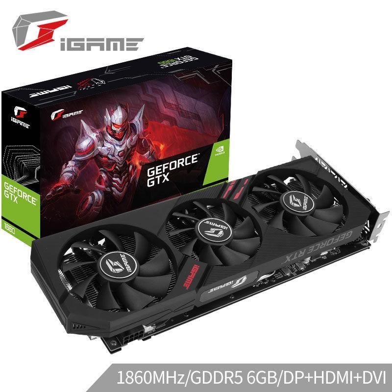 免運✈顯示卡✈ #1060TI七彩虹 GTX 1660 SUPER DDR6 6G電競游戲顯卡電腦獨立顯卡3060ti