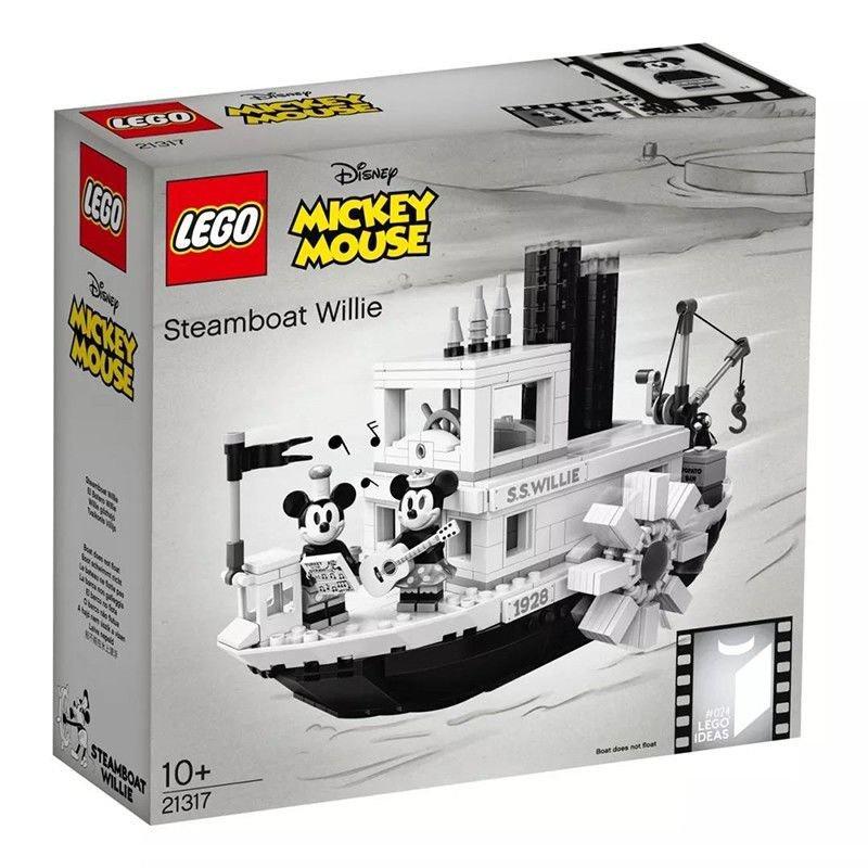 現貨 當天發貨 【正品保障】樂高(LEGO)積木 21317米奇米妮汽船威利號汽船 支持批發