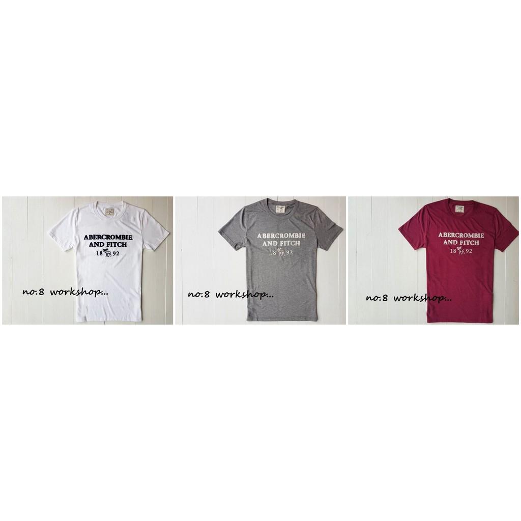 現貨商品【A&F男生館】☆【Abercrombie麋鹿LOGO短袖T恤】☆(白色.灰色.玫瑰紅色)原價1099