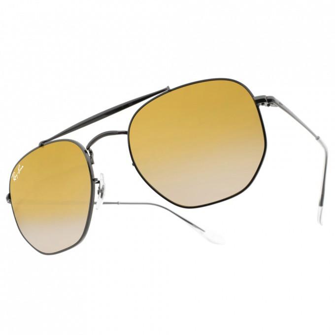 RayBan雷朋 水銀太陽眼鏡 RB3648 04113 潮流幾何多邊款 -金橘眼鏡