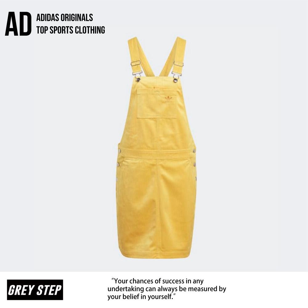 Adidas 愛迪達 三葉草 燈籠蕊 吊帶褲 女 黃色 裙子 GU2994 全新正品 快速出貨 統一發票