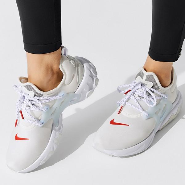 NIKE【CD9015-001】REACT PRESTO 慢跑鞋 魚骨鞋 襪套 增高 米水藍 女生