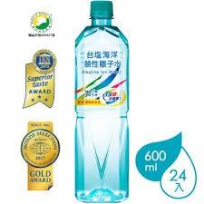 台鹽海洋鹼性離子水600ml一箱/24入$370