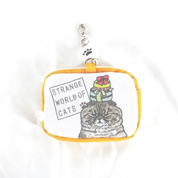 【不可思議的貓世界】日貨/線圈零錢包-購物