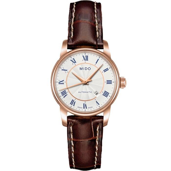 Mido 美度錶 M76002218 Baroncelli系列瑞士簡潔內斂腕錶/銀 29mm