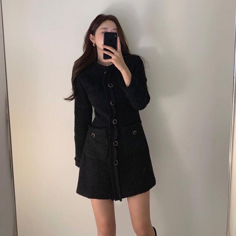 氣質小香風洋裝~跨年裝