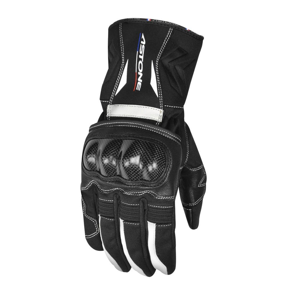 【ASTONE】GC01(黑白)全防禦碳纖手套