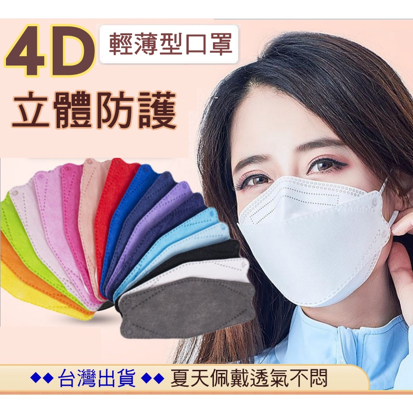 4D/3D立體防護 薄型口罩 韓版10入裝 魚形 魚型口罩 3D立體口罩 成人口罩 造型口罩 4D口罩 不悶熱
