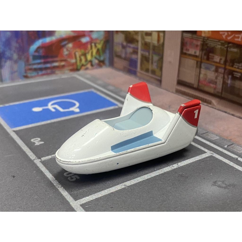 TOMICA 無盒 迪士尼園區 白色飛行船  無盒戰損品
