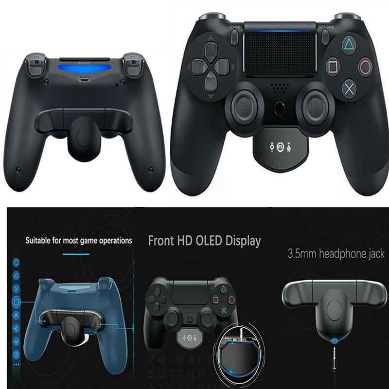 多功能背部拓展按鍵 連發 後側鍵適配器 適用於 索尼 PS4控制器手柄配件