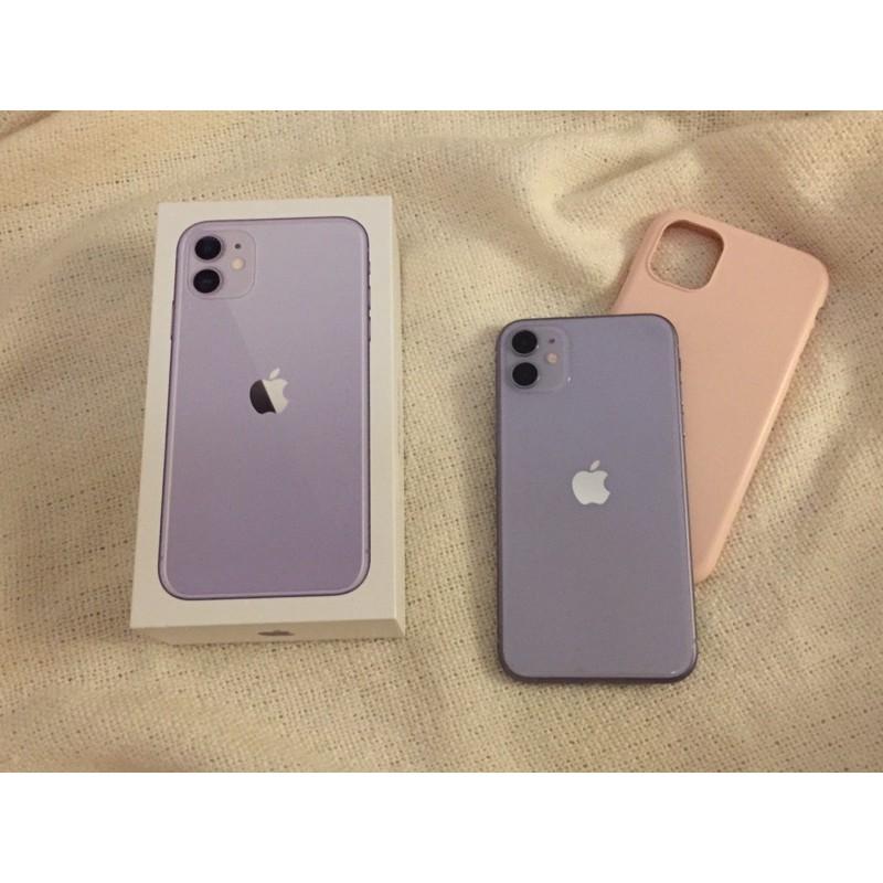iPhone 11 紫色 128G 二手 包裝全
