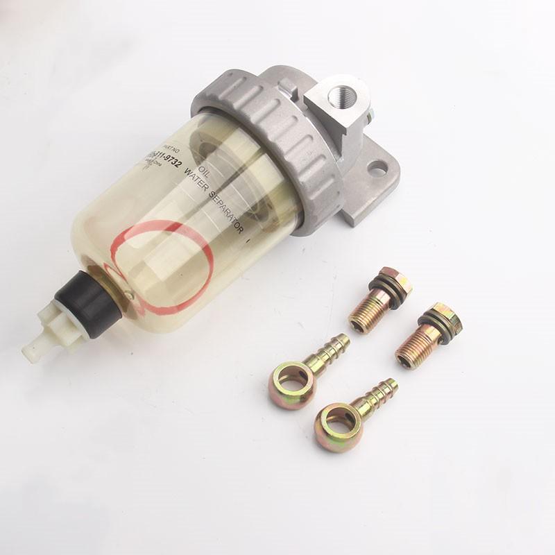 挖土機怪手零件油水分離器總成KOMATSU小松PC120 200-3/5/6柴油濾芯放水杯