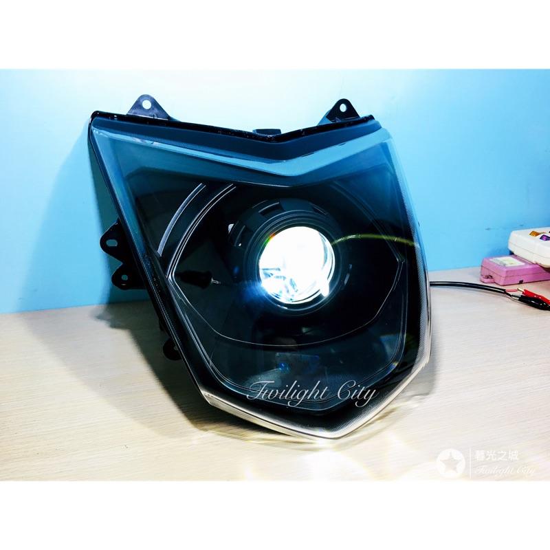 三代勁戰(黯黑A款)LED魚眼大燈遠近魚眼非HID勁戰二代勁戰四代