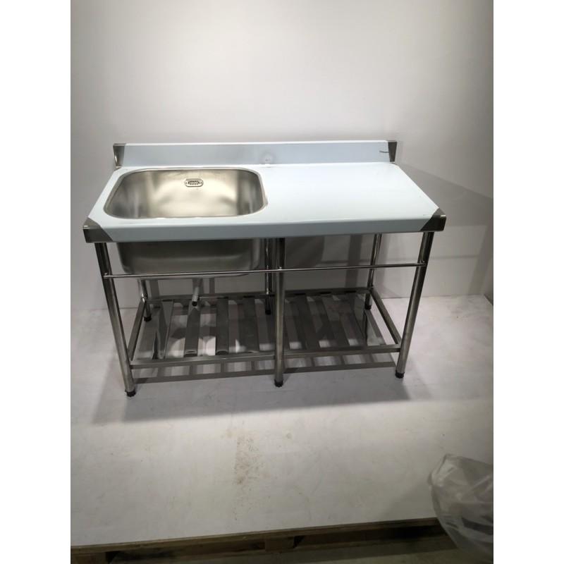 全新 免運費 不鏽鋼加深水槽 120cm水槽+平台 30深 水槽 洗手台 洗碗槽 加深水槽