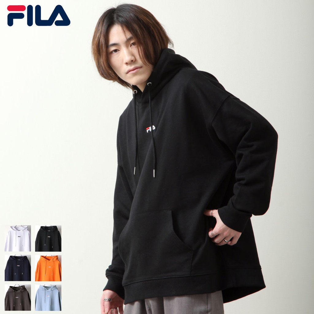 FILA LOGO刺繡連帽T 寬版連帽T恤 6色 ZIP 日版【fh7843】