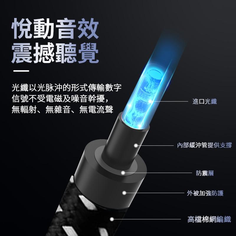 ■♚►名巢碳纖數字SPDIF光纖音頻線5.1發燒級方對方轉圓0.5米8米10米15