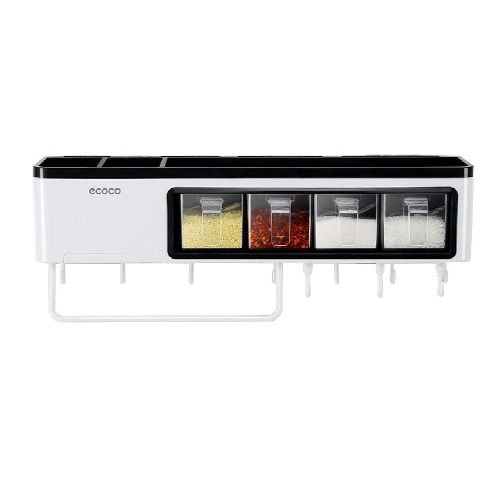 Ecoco無痕貼多功能壁掛廚房置物架