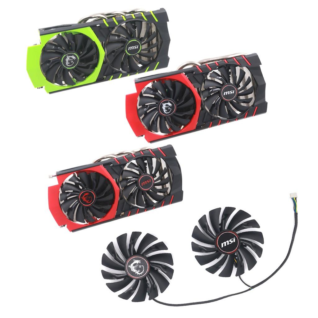 適用msi微星GTX980Ti/980/970/960/950 R9 390X/390/380散熱風扇