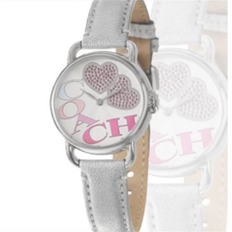 【COACH】俏皮甜心女用個性皮帶腕錶
