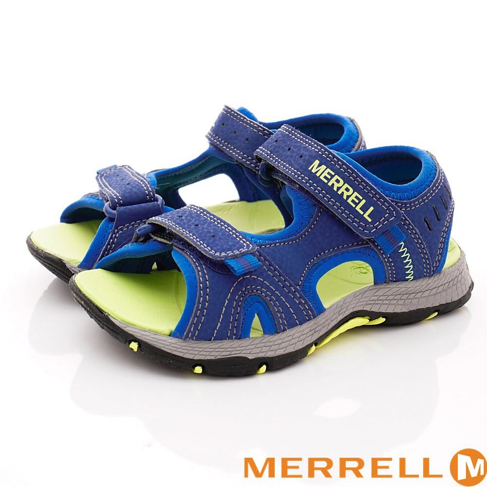 零碼出清-美國邁樂MERRELL運動涼鞋261236藍(中大童段)16cm17cm 18cm 19cm 23cm