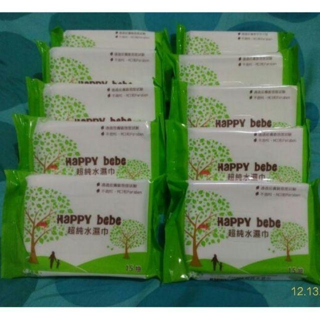 happy bebe 溼紙巾15抽/86抽&女性濕巾