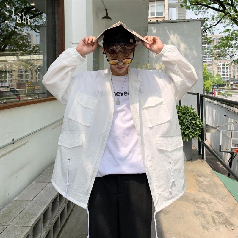 機能防護夾克 機能防護外套 2021新款網紅防曬衣男士夾克韓版潮流超薄透氣夏季外套港風防曬服