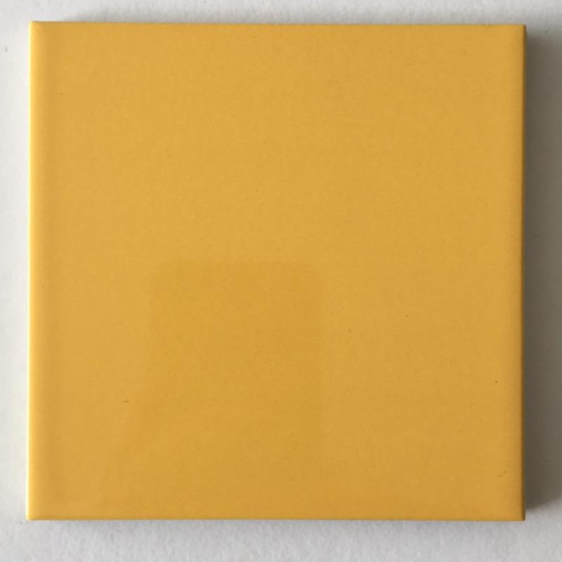 122 亮面黃色方塊磚 10*10公分 庫存出清