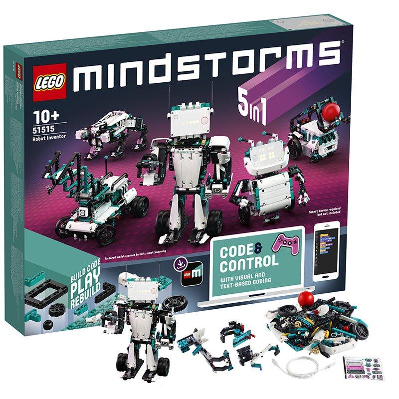 【官方發貨】 LEGO樂高 51515頭腦風暴智能機器人發明家可編程積木拼搭玩具男孩 現貨