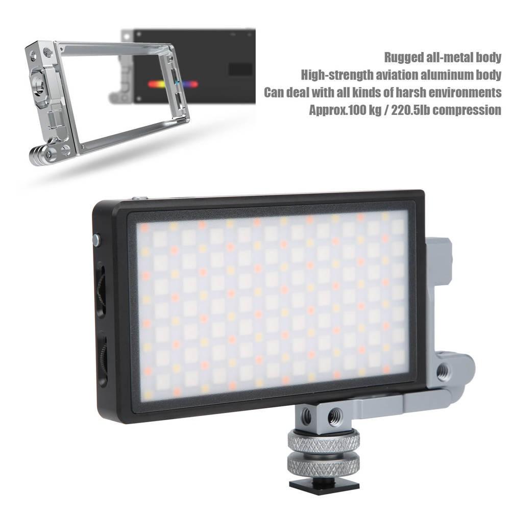 Boling P1 補光燈便攜式小型可調式攝像機 Rgb 9 特殊效果外部 12w