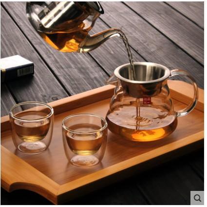 現貨 大號不銹鋼帶濾網公道杯加厚耐熱玻璃公杯茶海分茶器功夫茶具配件