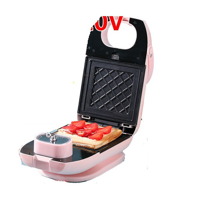 110v三明治機早餐機神器美國日本臺灣小家電華夫餅面包機廚房電器