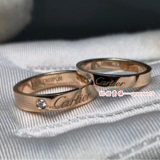 崽崽💗卡地亞戒指 高品質 單鑽簽名戒指 情侶對戒 鍍18k真金鑲鑽情侶戒指 窄寬版婚戒 Cartier戒指不掉色 桃園市