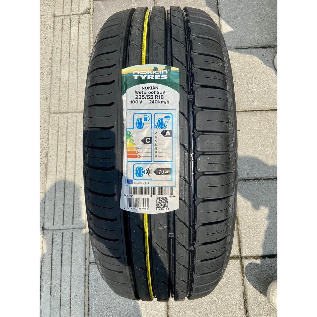 新北 小老闆輪胎 諾基亞 NOKIAN輪胎 235/ 55/ 18 Wetproof SUV 歐洲製 芬蘭百年品牌優惠中