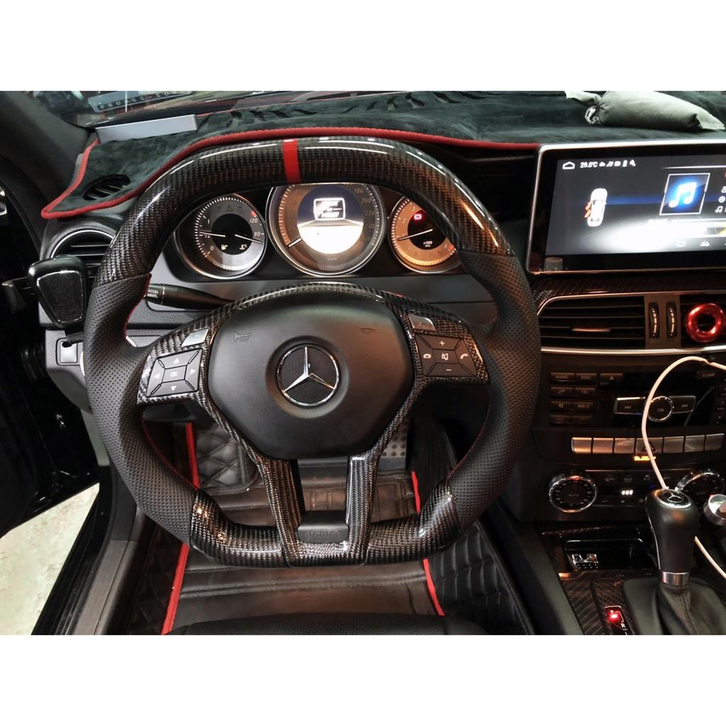 M.Benz C-Class AMG W204 改裝碳纖方向盤