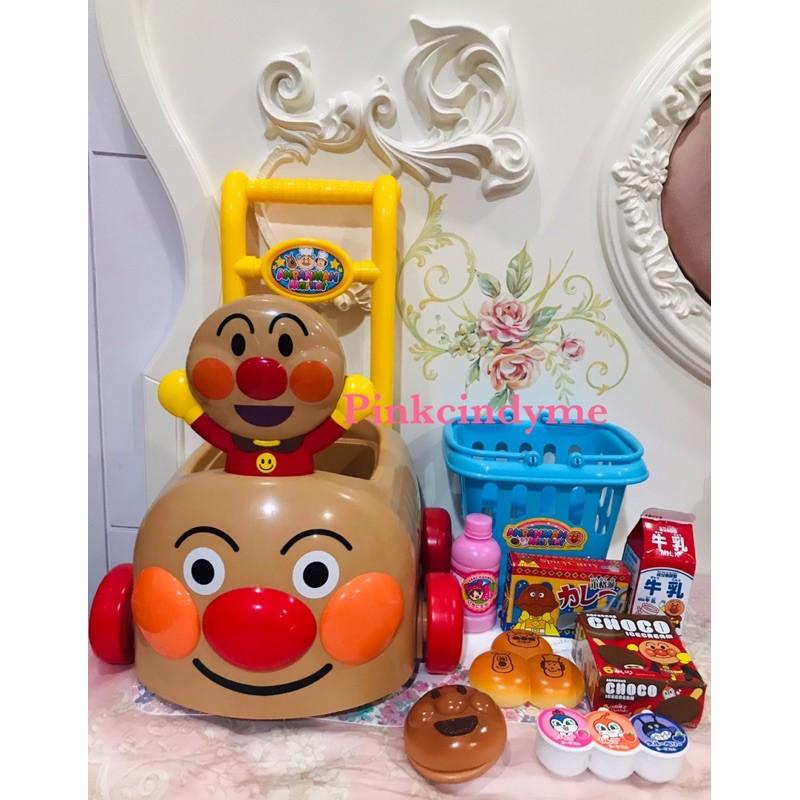 日本正版 麵包超人ANPANMAN兒童最愛 推車購物車 提籃籃子 家家酒 玩具 現貨