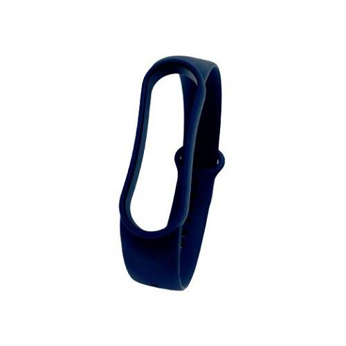 Adpe 小米手環5/6代 純色矽膠手環錶帶/替換錶帶/矽膠錶帶-午夜藍