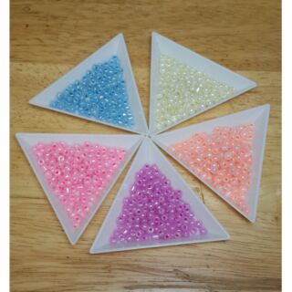 【DIY】4mm 玻璃油珠 粉色珠光米珠【10克12元】 新北市