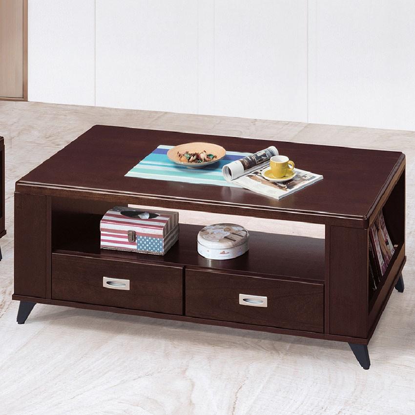 【121cm大茶几-E379-4】實木原木玻璃 大理石長方桌 大小邊几 圓桌 【金滿屋】