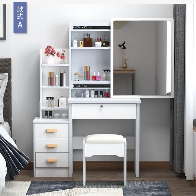 梳妝臺收納柜一體迷你臥室簡約現代女簡易小租房小迷單人化妝臺型