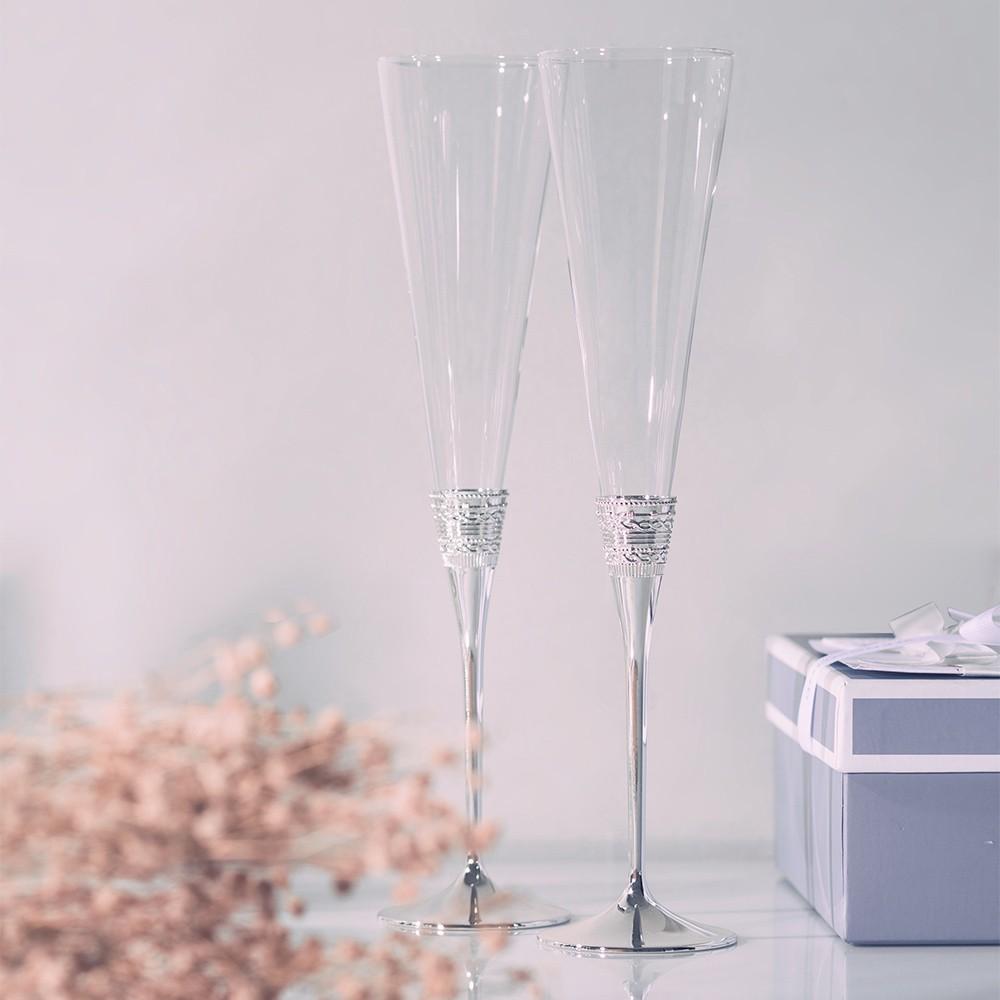 【ssz】英國 wedgwood vera wang 愛相隨香檳杯 withlove愛之結 結婚對杯