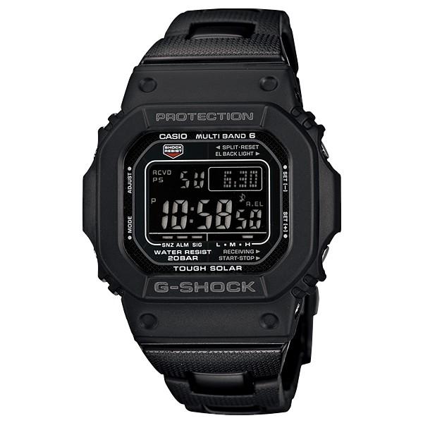 【金台鐘錶】CASIO卡西歐G-SHOCK 太陽能 防水200米 複合式錶帶 (電波錶) GW-M5610BC-1