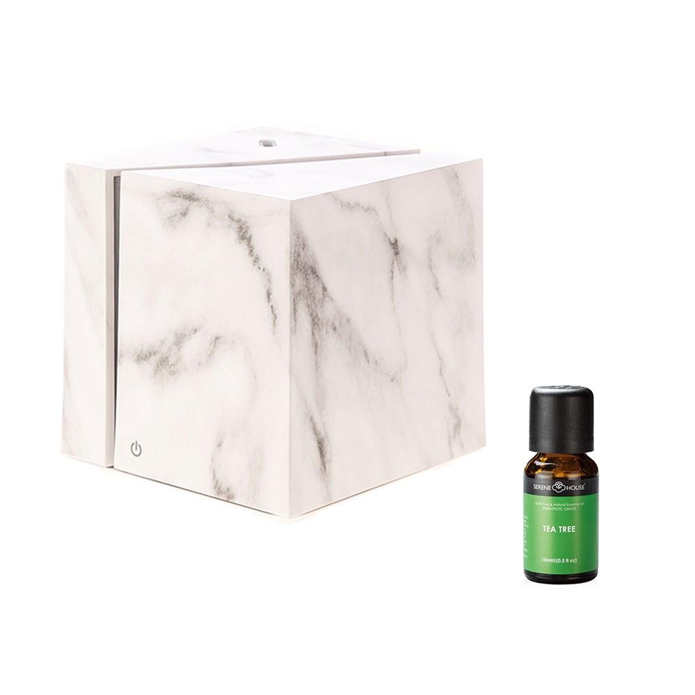 立方白精靈香氛水氧機+SH美國精油-茶樹 組合