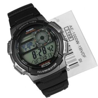 【八度空間】CASIO AE-1000W-1B.10年電池 世界地圖電子錶 桃園市